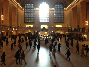 aimee grand central rush hour morning